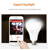 Smart WiFi LED Bulb Camera 360 Panoramic Vr View
