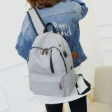 2017 External Charging USB Backpack Women Travel Bag Canvas Backpack College Student School Backpack Bags for Teenagers Mochila