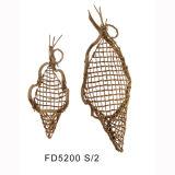 Natural Rattan Hanging Flower Basket for Indoor Decoration