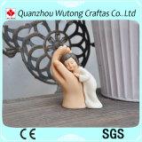 Polyresin Baby Angel with Buddha Hand Design Figure Resin Home Decoraiton
