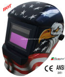 Solar Powered/Decals Auto-Darkening Welding Helmet (G1190DB)