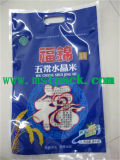 Colorful Rice Bag with Handle, Heavy Food Packaging Bag