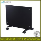 High Cost Performance Electrical Curved Portable Glass Panel Bathroom Heater with Ce/CB/GS Approved