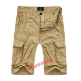 Men Fashion Comfortable Loose Cargo Pockets Cotton Shorts (S-1516)