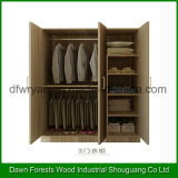 Three Doors Modern Design Closet Cabinet Bedroom Wardrobe