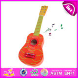 Cute Design Wooden Toy Bass Guitar, Rmusic&Play Toy Bass Guitar, Wooden Cheap Toy Bass Guitar Wholesale W07h036