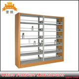 Metal Side Cloume 6 Adjustable Layer School Library Bookshelf