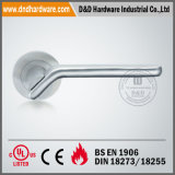 En1906 Solid Lever Handle on Round Rose