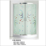 Colorful Tempered Glass Shower Enclosure