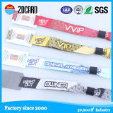 Promotional Festival Embroidered Green Glow Woven Wristbands