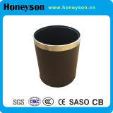 Hotel Round Double Body Wastebin with Chrome Plating Ring on The Top