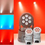 DMX512 RGBWA 12W LED Moving Head Wash Beam Magic Light