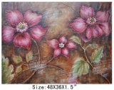 Handpainted High Quality Modern Decrateive Abstract Red Flowers Oil Painting on Canvas (LH-700541)