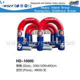 Inflatable Water Game Water Bouncy Game on Stock (HD-10005)