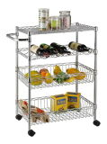 NSF Carbon Steel Chrome Palted Food Storage Wire Shelving