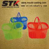 Plastic Household Mould, Plastic Shopping Basket, Colorful Double Handle Basket
