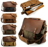 Canvas School Military Messenger Bag with Laptop Compartment (BS16020)