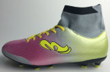 Football Shoe with Flyknit High Sock
