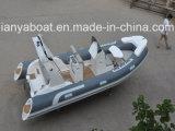 Liya17ft Fiberglass Board Rubber Tube Fast Rescue Boat China
