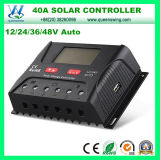 40A 2400W 12/24/36/48V Solar Regulator with LCD Display (QWP-SR-HP4840A)