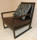 Wooden Hotel Restaurant Furniture Leisure Easy Chair Sofa for Cafe