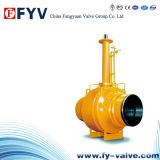 API 6D Wcb Fully Welded Ball Valve with Gear