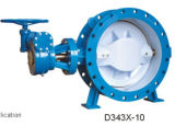 Tht Custom Valve Resilient Seated Double Eccentric Flanged Butterfly Valve