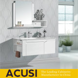 Lacquer Plywood Modern White Bathroom Vanity Cabinet (ACS1-L32)