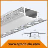 China Supplier Architectural LED Aluminum Profile in Plaster for Drywall (Silver anodized)