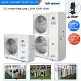 Amb. -25c Air Temp. Cold Winter Floor Heating House +50c Hot Water 12kw/19kw/35kw R407c Evi Heat Pump Water Heater for Home Heat