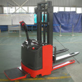1t-2.5t Full Electric Walkie Pallet Lifter Stacker with Foldable Platform with Paper Roll for Sale