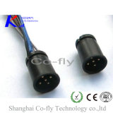 Straight Male to Male Connector Plastic Housing with O-Ring M12 Solder Snap-in Connector