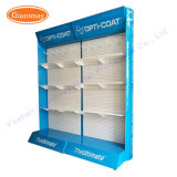 Supermarket Flooring Pegboard Hanging Exhibition Perforated Display Shelf Rack for Trade Show