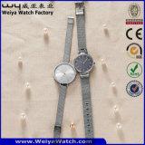 Custom Brand Logo Quartz Watch Fashion Digital Watches of Gold Color (WY-17006D)