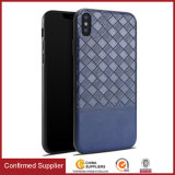 Woven Pattern PU Leather Case Slim Cover for iPhone X 8 Plus