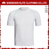 Custom Logo Men Short Sleeves Plain Rash Guard (ELTRGI-3)