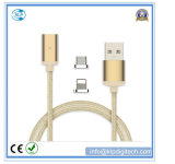 2-in-1 Nylon Braid Magnetic USB Cable for Android & iPhone