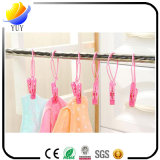 Multifunctional Drying Clothes Towel Plastic Clothes Peg with Rope Fixed Towel Clip