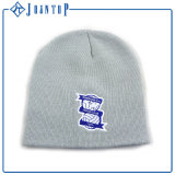 Plain Dyed Beanie Hat with Printing Label