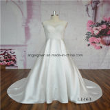 Satin Skirt Lace Bridal Wedding Dress