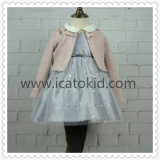 Winter Autumn Wool Dress Coat Clothing Set for Children