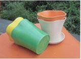 Assorted Colors Biodegradable Bamboo Fiber Flower Pots Garden Flower Pots (BC-FP1026)
