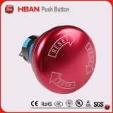 19mm Waterproof Red Emergency Stop Push Button Switch