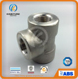 ASME B16.11 Ss 304 High Pressure Socket Weld Equal Tee Forged Fittings (KT0575)