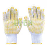 2017 Hot Selling Cotton Knitting Gloves PVC Dots, Quality and Cheap, Manufacture in China