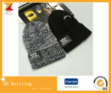 Wholesale Knit 100 Acrylic Mens Beanie Winter Hat with Custom Label