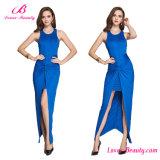 Structured Thigh High Split Blue Formal Dress Gown Evening Dress