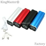 Delicate Columnar Power Bank 5200mAh External Battery with Cable