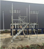 Hot DIP Galvanized Ringlock Scaffolding Tower Erected for Inspection