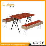 Outdoor Garden Furniture Restaurant Plastic Wood Rattan Table  and  Chair